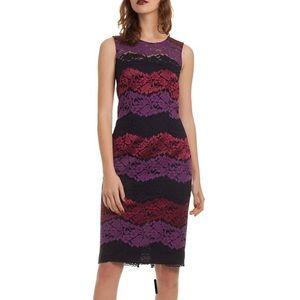 NWOT Trina Turk Tyra sleeves lace sheath dress 8